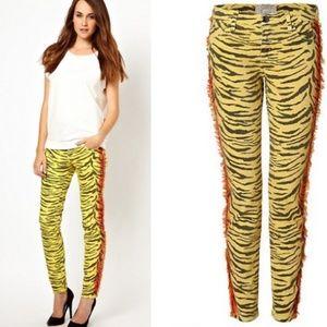 Current Elliott Animal Print skinny jeans 27